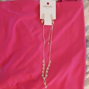 David's Bridal earrings and necklace set